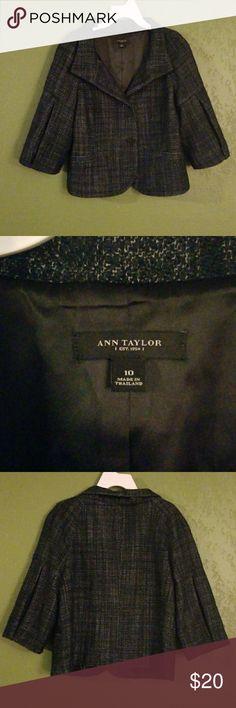 Ann Taylor jacket Cute Ann Taylor Navy Blue Jacket. Size 10. In good condition. Ann Taylor Jackets & Coats Blazers