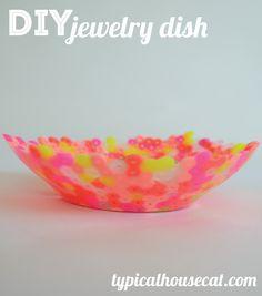 DIY Perler Bead Jewelry Dish | typical house cat