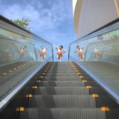 ・ ・ reflection #escalator_dan ・ ららぽーと立川立飛にて 先日季節外れの雪遊びが出来るというので 行ってきました( ´ ▽ ` )ノ 雪遊びショットはまた後日に ・ iPhone6s / Snapseed→Instagram ・ #team_jp_ ←後ろにアンダーバー1つです‼︎ ・