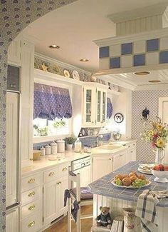 Blue And White Custom Cottage Kitchen Remodel !