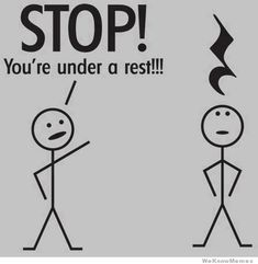 Stop! You're under a rest! by weknowmemes #Cartoon #Music