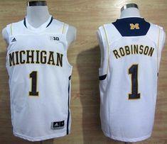865c8d9c6671 Wolverines  1 Glenn Robinson III White Basketball Stitched NCAA Jersey  Cheap Nba Jerseys