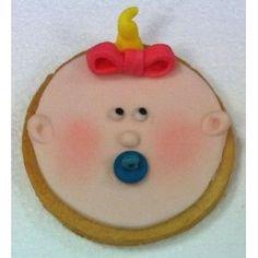 galleta de bebé con fondant