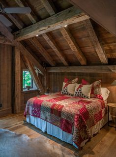 Baroque Barn Loft Entry Rustic with clerestory windows - Lily designer