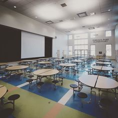 #school #architecture #archweek16 #design #daylight #colors #floor  #cafeteria