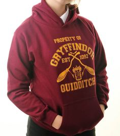 HARRY POTTER HOODIE Inspired Gryffindor by SharpThreadsGB on Etsy