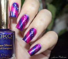 Purple Striping Tape [Nail Art] KIKO #nailart #nails #polish #mani - Share/explore more nail looks at bellashoot.com!