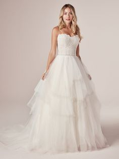 25803 - Toni - Beautiful layered bottom gives this strapless wedding gown such a romantic feeling! Try this beauty on at Aurora Bridal in Melbourne, FL 321-254-3880 Affordable Wedding Dresses, Cheap Wedding Dress, Practical Wedding, Wedding Dress Trends, Designer Wedding Dresses, Perfect Wedding Dress, One Shoulder Wedding Dress, Bridal Gowns, Wedding Gowns