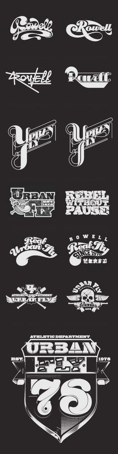 Typography, Type Treatments & Illustration 02 by Stefan Chinof, via Behance
