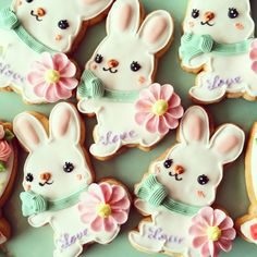 adorable white bunny cookies