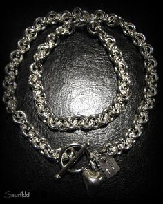 Heavy silver necklace