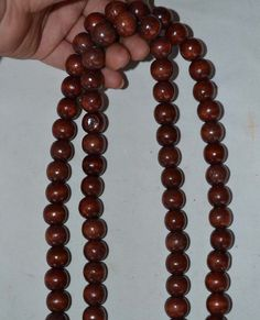 "32"" Old Tibet Tibetan Buddhist Wood Chain 108 Prayer Beads Mala"