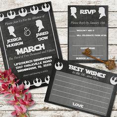 Star Wars Chalkboard Printable Wedding By SweetTeaAndACactus