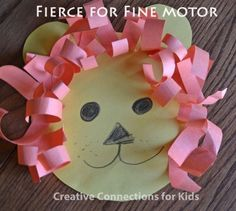 The Lion - Fierce for Fine Motor - scissor skills and an activity that ushers in. The Lion - Fierc Gross Motor Activities, Spring Activities, Craft Activities For Kids, Preschool Crafts, Craft Ideas, March Crafts, Spring Crafts, Easy Crafts For Kids, Art For Kids