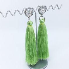 Light Green tassel earrings - $20AUD - allure style