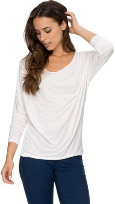 e6f06e8713496 Zalora Basics Draped Front Long Sleeve Top on shopstyle.com.au