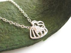 Lots of love Tiny Heart Sterling silver Necklace   by cocowagner, $18.50