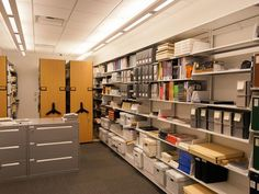 Mobile Storage and Cantilever Shelving at The Dali Museum in St. Petersburg, Fl