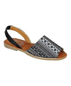 Another great find on #zulily! Black Geometric Clori Sandal #zulilyfinds