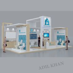3d stall design and interior design by Adil Khan at Coroflot.com