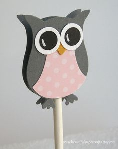 owl punch on a stick    Stampin Up