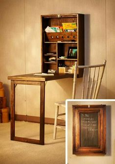 Space saving desk. Maybe even a craft table.