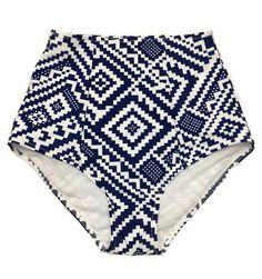 Graphic Print Retro Vintage Women High Waisted Waist Rise Shorts Knicker Bottom Bottoms Swimsuit Swimwear Bathing Suit Swim Costume S M L XL by venderstore on Etsy