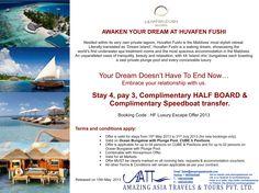 Huvafen Fushi Luxury Escape Offer 2013