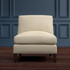 Pierce Armless Chair Sectional, Down Blend, Raffia, Off White