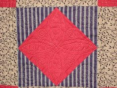 Welsh quilting detail.