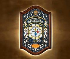 STEELERS STAINED GLASS WINDOW ,YES SIR