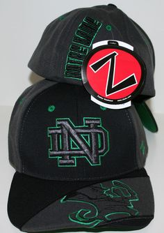 Notre Dame Fighting Irish Dark Ice Flex Fitted Hat by Zephyr  a5adea426352