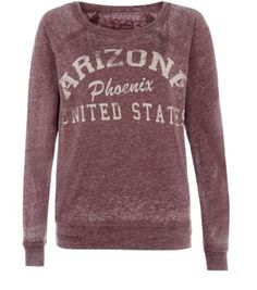 Burgundy Phoenix Arizona Burnout Sweater