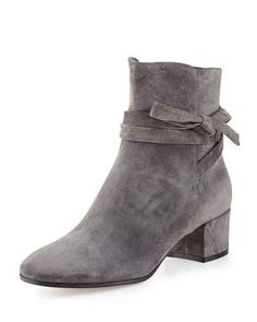 suede grey ankle boots