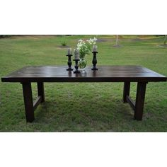 Rustic, distressed dining tables