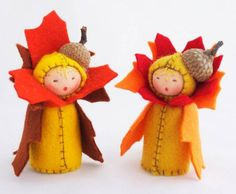 Sweet Waldorf Inspired Flower Dolls That Celebrate The Seasons Mushroom Felt Doll – Inhabitots Waldorf Crafts, Waldorf Toys, Steiner Waldorf, Felt Fairy, Clothespin Dolls, Nature Table, Autumn Crafts, Paperclay, Little Doll