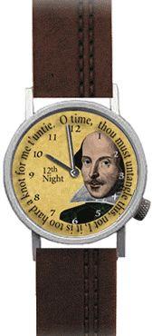 Shakespearean watch - with Japanese quartz movement