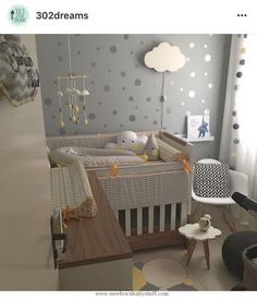 Baby Accessories Cute multi-gender themed room - pastel colours and layered w...