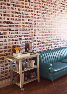 Another amazing home DIY by Exposito Exposito Woodbury Pehrson Larson of A Beautiful Mess. A polaroid wall! Photowall Ideas, Polaroid Wall, Polaroid Photos, Polaroid Pictures Display, Polaroid Display, Polaroids On Wall, Polaroid Ideas, Polaroid Cameras, Home Decor Ideas
