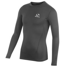 Sondico Herren Base Layer Mock Top Langarm Kompression Fit Sport Sweatshirt
