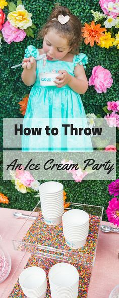How to Throw an Ice Cream Party | See the entire party and all the details at blog.cuteheads.com