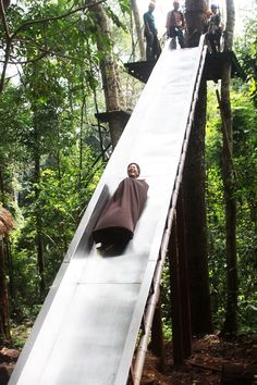 Slide Descent - Flying Squirrels Chiang Mai by Tree Top Flight