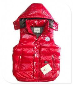 de7bf56a122f Moncler Lovers Of Men Vest Sleeveless Single-Breasted Red