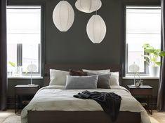 Billedresultat for rispapirlampe Ikea Usa, Black Walls, Color Trends, Cube, Sweet Home, Living Room, Furniture, Beautiful Bedrooms, Home Decor