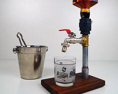 Dosatore miscelatore alcool in legno fatti a mano /