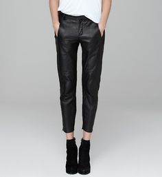 Black ankle leather pants. Via mermaids. Wearing Black e2978b6f5ab