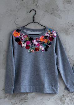 Applikoiden tuunattu paita SK 2/14. Upcycle, Creations, Sweatshirts, Tips, Sweaters, Clothes, Fashion, Outfits, Moda