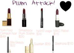 Plum Lips via Glamour Playground.