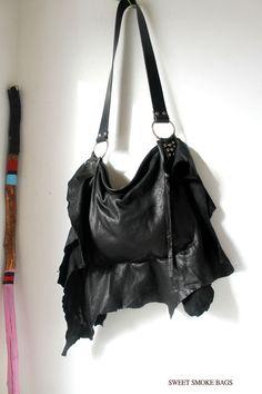 e3ff65276e Leather bag slouchy irregular shape purse bohemian motorbike tribal bag  southwes western gothic rocker rock n roll bag free spirit people