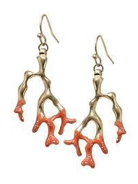 Sabine Coral Statement Earring